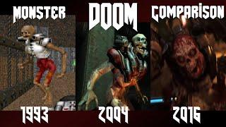 getlinkyoutube.com-Doom 1993 - 2016 : Monster Comparison