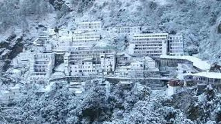 Snowfall at Vaishno Devi Temple 2017