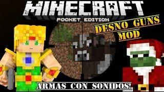 getlinkyoutube.com-Minecraft PE 0.15.0 - MOD DE ARMAS CON SONIDO ! - DESNO GUNS - MODS PARA POCKET EDITION