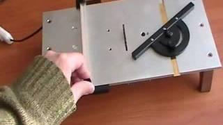 getlinkyoutube.com-Homemade micro table saw