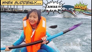 getlinkyoutube.com-Penjaga Pantai Sanur Bali Beach ❤ Mermaid Tail Penolong @LifiaTubeHD