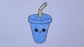 getlinkyoutube.com-Como desenhar um milk-shake fofo