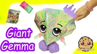 Giant Gemma Stone Filled with Surprises of Shopkins , Disney , Handmade Fan Blind Bags