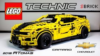 getlinkyoutube.com-MOC Lego Technic Chevrolet Camaro 2015 with SBrick