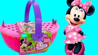 Minnie Mouse Bow-tique Play Doh Picnic Playset Disney Junior Mickey Mouse Toys Juego de Picnic