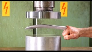 getlinkyoutube.com-Crushing Adamantium with Hydraulic Press
