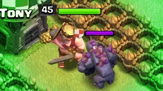 getlinkyoutube.com-MAX LEVEL GOLEM vs MAX KING!! - Clash Of Clans TANK FIGHT!!