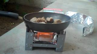 Cooking with my new Esbit Stove