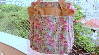 getlinkyoutube.com-Bolsa de tecido e couro ecologico Floral - Maria Adna Ateliê - Cursos e aulas de bolsas