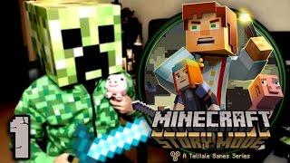 getlinkyoutube.com-Minecraft Story Mode Episodio 1 - PARTE 1 - PS4 - [LuzuGames]