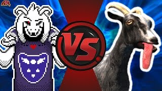 ASRIEL DREEMURR vs GOAT SIMULATOR (Undertale vs Goat Simulator) Cartoon Fight Club Episode 172