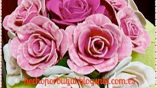 getlinkyoutube.com-Como hacer Rosas con cartones de huevos