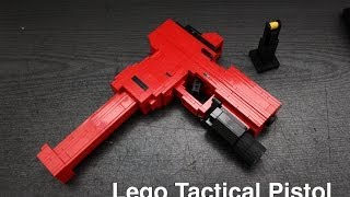 getlinkyoutube.com-Lego Tactical Pistol (Glock 17) with working parts!