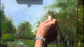 getlinkyoutube.com-Tony Mercier paints a forest scene in Acrylics