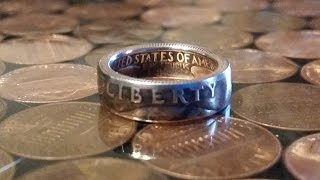 getlinkyoutube.com-Step 2 How to make a double sided clad quarter coin ring - Forging