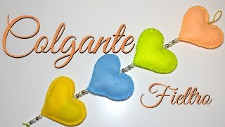 getlinkyoutube.com-Tutorial: Colgante de Corazon (Fieltro/Felt) | Especial San Valentín | Mundo@Party