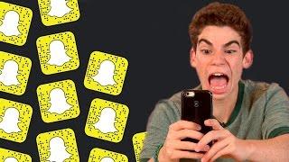 getlinkyoutube.com-Cameron Boyce gets terrified on Snapchat!