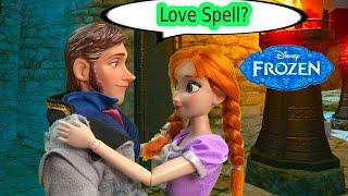 getlinkyoutube.com-Queen Elsa Love Spell on Prince Hans? Disney Frozen Princess Anna Part 36 Dolls Series Video