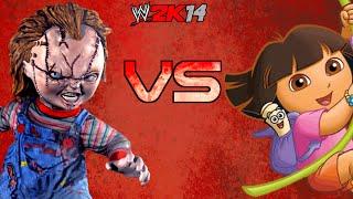getlinkyoutube.com-WWE 2K14: Dora VS Chucky [FR//HD]