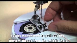 getlinkyoutube.com-UKICRA CBT-0208 Mini Sewing Machine Threading Guide