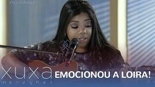 Ludmilla canta ao vivo e deixa Xuxa emocionada