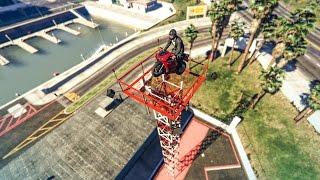 EPIC BIKE PRECISION STUNT! - (GTA V Stunts & Fails)
