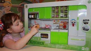 getlinkyoutube.com-Кухня для кукол барби распаковка и обзор Vogue Kitchen Miniature Modern Doll Kitchen unboxing