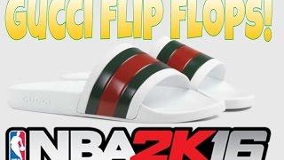 getlinkyoutube.com-Gucci Flips Flops Shoe Creator Tutorial!/Nba 2k16 Shoe Creator!!