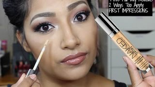 getlinkyoutube.com-Urban Decay Naked Skin Weightless Complete Coverage Concealer In Medium FIRST IMPRESSIONS