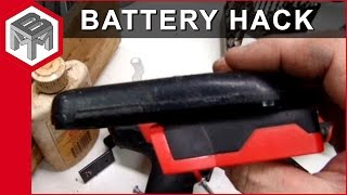 getlinkyoutube.com-18v nicad to 20v lithium ion battery adapter hack for Milwaukee cordless tools