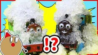 トーマス おもちゃアニメ おふろDEミニカー ジェリースノウであそぼう!カラフルビーズ♪ Toy Kids トイキッズ animation Thomas and Friends