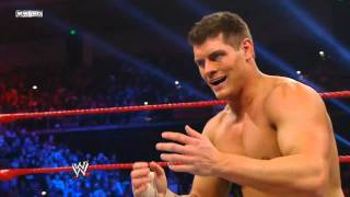 WWE TLC 2011 Cody Rhodes is werewolf! Epic face