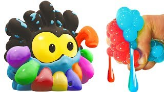 SQUISHY BALLS Face Painting | Learn Colors With WonderBalls | Cartoon Candy