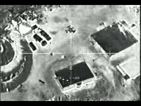 Avión artillado AC-130 atacando un poblado talibán