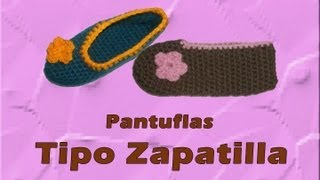 getlinkyoutube.com-Pantuflas tipo zapatilla azules