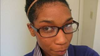 "getlinkyoutube.com-Quick Top Knot Bun on Wet ""Natural Hair"""