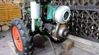 getlinkyoutube.com-MOTOROBOT M6 STUDENÝ START,  MANUAL DIESEL COLD START