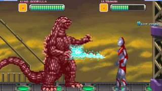 getlinkyoutube.com-Friend Request Mugen Fight Two - King Godzilla Vs Ultraman
