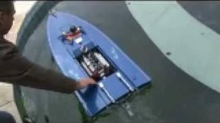 getlinkyoutube.com-Blue Princess Mini DOHC V8 Drag Boat Update 04