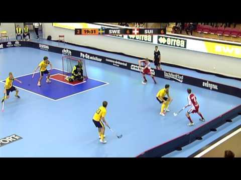 Euro Floorball Tour Highlights Sweden-Switzerland Men's U19 3.11.2012
