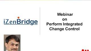 Webinar on Integrated Change Management