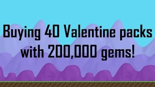 getlinkyoutube.com-TRYING TO GET A GOLDEN HEART CRYSTAL! (Valentine Packs) | Growtopia