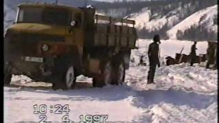 getlinkyoutube.com-Дальнобойщики Олекминска. Часть 2(зимник, апрель 1997)