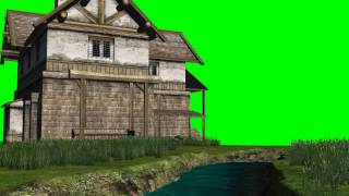 getlinkyoutube.com-river with an old house -  green screen effects