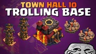 getlinkyoutube.com-Town Hall 10 Trolling Base   Defensive Replays!