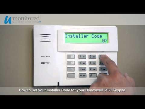 Honeywell 6160 keypad address