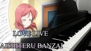 getlinkyoutube.com-Love Live - Aishiteru banzai (TV extended Ver ) [Piano Cover] Valentine Special