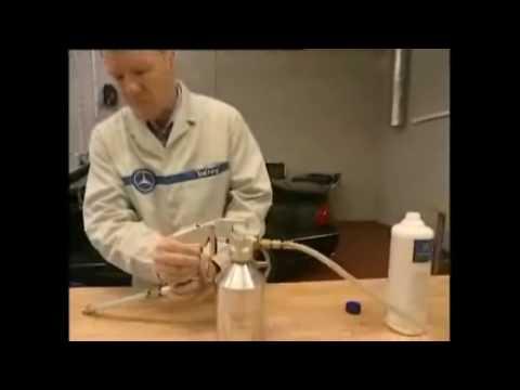 Чистка испарителя кондиционера Mercedes-Benz Cleaning the evaporator conditioner.
