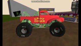 getlinkyoutube.com-breaking a red gravedigger & Kingsling at custom wf6(sim-monsters/ror)