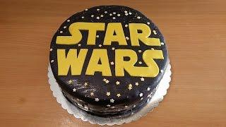 getlinkyoutube.com-HOW TO MAKE STAR WARS CAKE - STAR WARS FONDANT CAKE